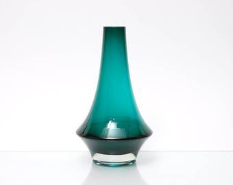 Vintage Scandinavian Pop Art Glass Vase by Tamara Aladin for Riihimaki/Riihimaen Lasi Oy Finland Form 1379