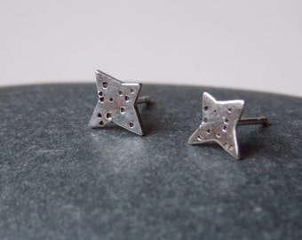 Tiny Star earrings made of silver