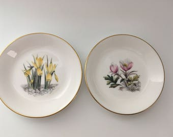 Two Royal Worcester Fine Bone China Pin Dishes