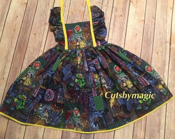 Stained glass Beauty and the Beast dress