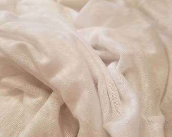 "100%Linen jersey knit Natural fiber ""White""by the yard Eco-friendly 60"" wide"