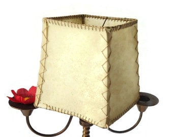 Vintage Leather  Lamp Shade ,leather lampshade