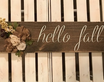 LOVE wood sign with interchangeable handmade felt flower cluster