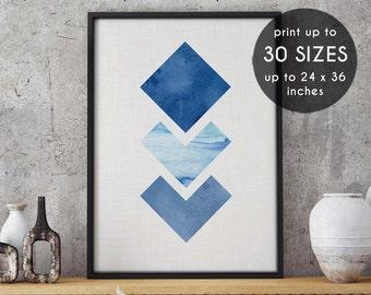 geometric art, Blue, wall art, geometric wall art, abstract art, minimalist art, abstract print, printable, poster, geometric print, art,146