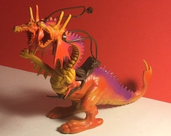 1982 ARCO OTHER WORLD Gaifand two 2 headed dragon monster with saddle rare vintage action figure toy Hong Kong