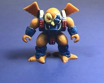 1987 BATTLE BEASTS HASBRO Takara vintage action figure animal monster warrior original toy Knight Owl bird of prey eye patch laser