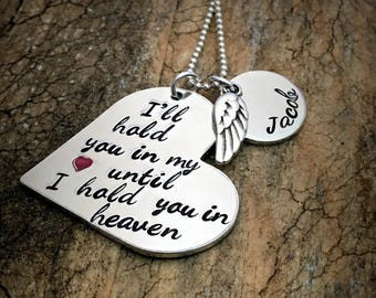 Personalized Memorial Necklace, Remembrance Necklace, Remembrance Jewelry, Loss of a Loved One