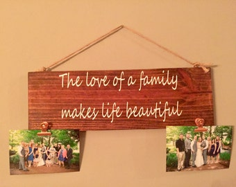 Family Sign, Wall Decor, Wall Hanging, Wall Sign, Wood Sign