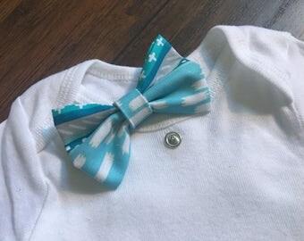 Boy interchangeable bow tie bodysuit/one piece