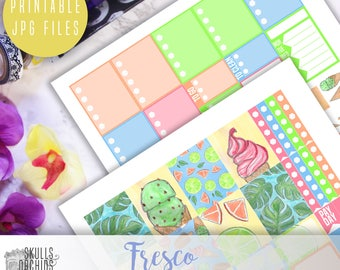 Fresco Weekly Kit - Printable Stickers for ERIN CONDREN