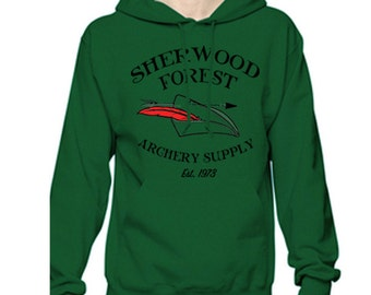 Unisex Disney Hoodie Sherwood Forest Archery Supply Robin Hood Hoodie Disneyland Hoodie Disney World Sweatshirt shirt Magic Kingdom Hoodie
