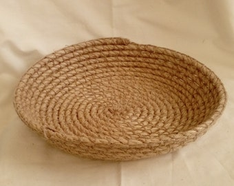 Shallow Crocheted Rope Bowl