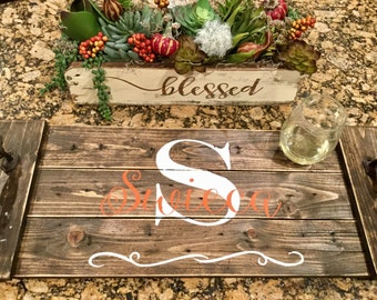 Monogram Custom Serving Tray