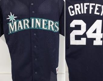 Vintage Seattle Mariners Griffey Jersey L