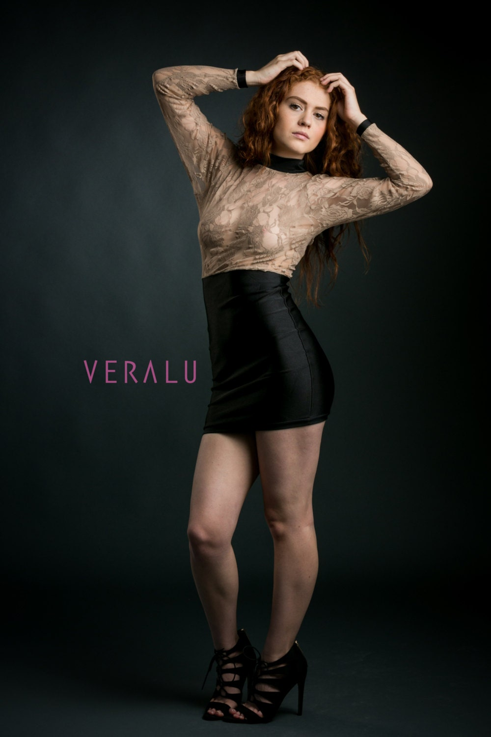 VERALU Sultry lace dress (black)