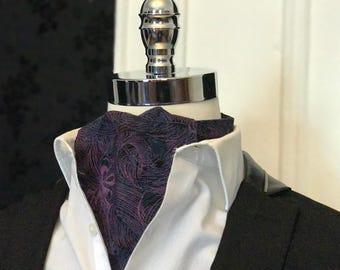 Purple Floral Cravat // Liberty Art Fabrics // Ascot