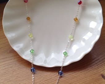 The Rainbow Collection- 6mm czech glass spheres and Preciosa crystals.