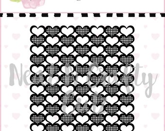 whola lotta love Background 12x12 and A4 Background cut file. For scrapbooking and paper crafting