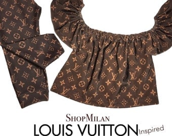 Louis Vuitton Inspired Flutter Top