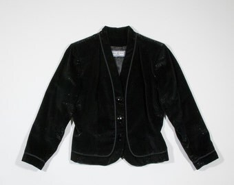 YVES SAINT LAURENT - velvet lamin jacket