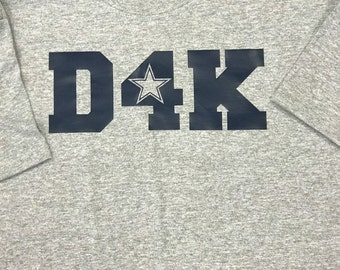 YOUTH Dallas Cowboy Dak Prescott 2- SIDED  T-Shirt -Top Brand T-Shirt - 2016 NFC East Champions