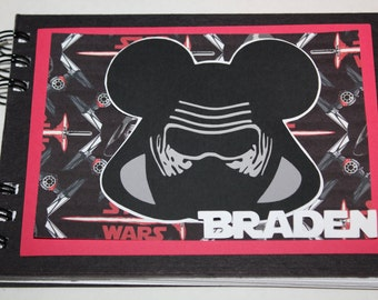 Personalized Disney Autograph Book inspired by Kylo Ren (A)