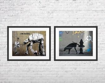 Banksy Dog Etsy