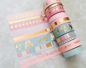 NEW*** uptown Recollection Washi Tape French bull dog, Flamingo