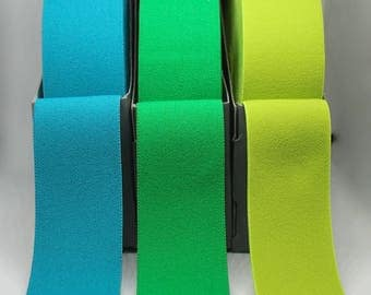 Excellent Quality Waistband Elastic in Turquoise, Green or Citrus Green
