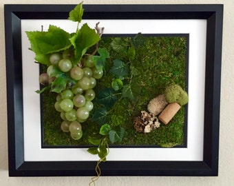 Moss Art for Wine Lovers - Green