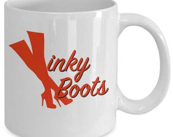 KINKY BOOTS the MUSICAL Inspired Mug - Broadway Fan Gift - 11 oz white coffee tea cup