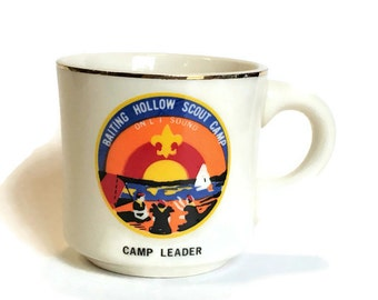 Vintage Coffee Mug Baiting Hollow Scout Camp Camp Leader Mug, Vintage Boy Scouts of America Mug, Made in USA, Boy Scout Leader Gift