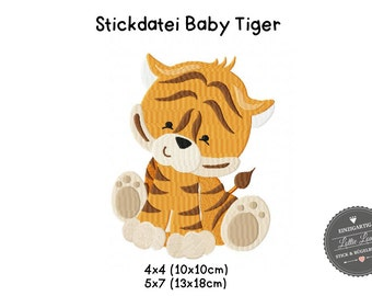 Embroidery design embroidery file baby tiger 4 x 4 5 x 7