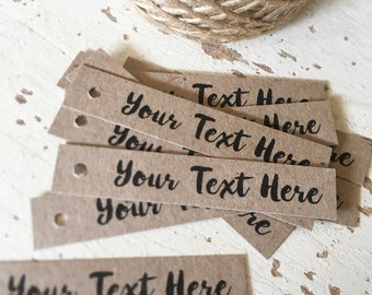 Customisable Tags Pk60 - Choose your Font!!