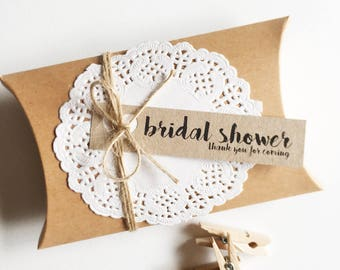 Bridal Shower Favour Kit Pk10 - Kraft Brown Boxes. Rustic.