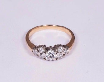 14K Yellow Gold 1.25 ct. tw. Diamond Ring , Size 8.75