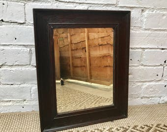 1930s Small Wood Frame Antique Mirror