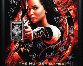 The Hunger Games Catching Fire - Signed Movie Poster Framed + COA