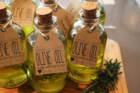 FREE SHIPPING 20 Organic Rosemary Olive Oil Favors Infused