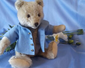 Reduced **** Vintage Steiff original Bear, 28 cm, with button, used condition