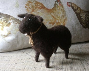Needlefelted handcrafted Black Sheep