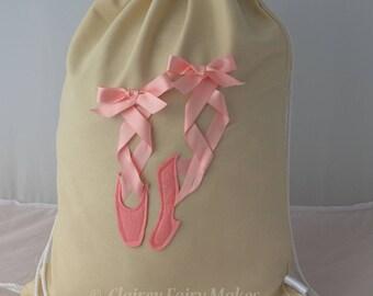 Ballet bag, ballet shoes, ballet gift, dance bag, dance shoes,  girls dance bag, personalised dance bag, personalized dance bag, custom bag