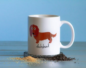 Dachshund Mug (longhaired - red - boy)