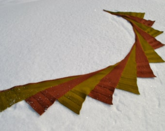 Shawl Forest, scarf. Digital pattern for machine knitting