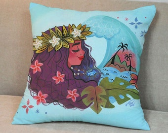 Moana Pillow Case, Moana Pillow Cover, Moana Throw Pillow, Cute Pillow Case, Decorative Pillow Case, Throw Decor