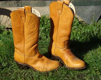 Vintage Cowboy Stewart Co. Inc. Women Handcrafted Boot Coppery Western Boots