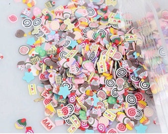 200 gr 3 beadworks confetti shaped cake and cupcake