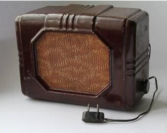 Soviet radio, Metal body radio 1951, Vintage radio USSR, Radio speaker, Home decor.