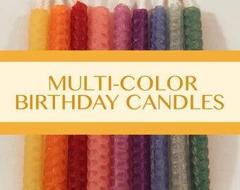 Birthday Candles -100% Hand Rolled Beeswax