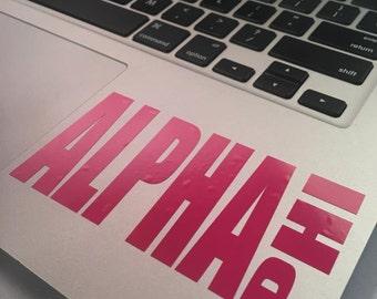 Alpha Phi Block Decal